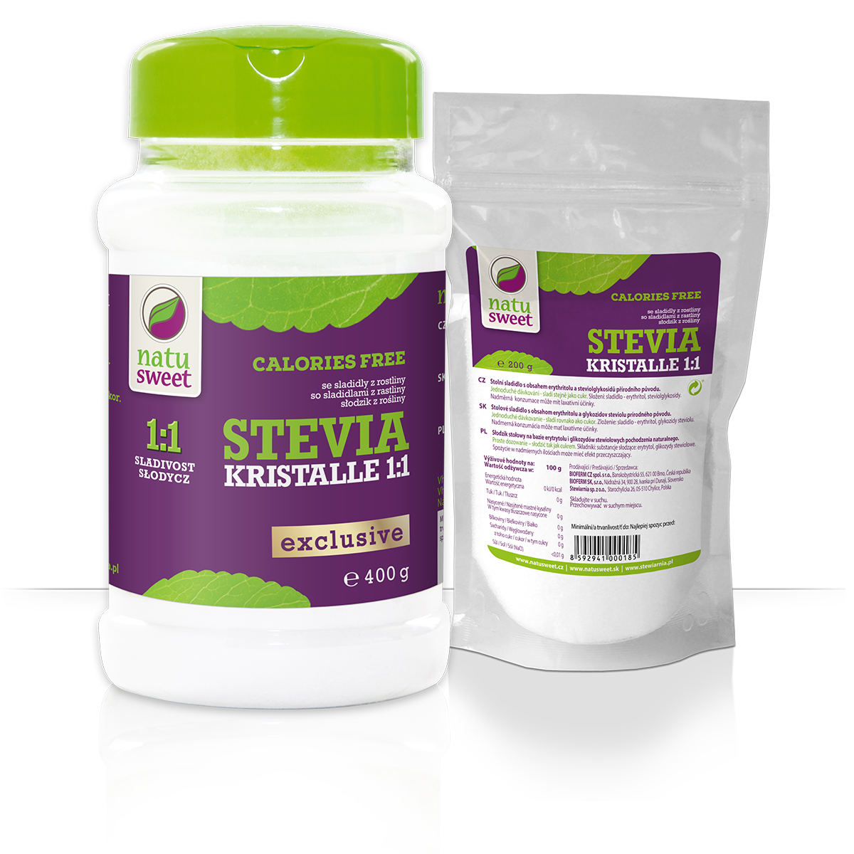 Natusweet Stevia Kristalle